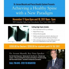 November 17-18, 2017 - Achieving a Healthy Spine with a New Paradigm - East Greenbush, NY